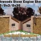 BACKWOODS STONE ENGINE SHED Kit Thomas Yorke/Scale Model Masterpieces 1;48/On30