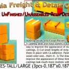 STACKED BOXES-TALL/LARGE (3pcs) N/Nn3/1:160-Scale CAL FREIGHT & DETAILS