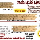 "INTERLOCKING STONE FOUNDATION WALL ""A-B-A"" Scale Model Masterpieces/Yorke S/On30"