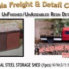 INDUSTRIAL STEEL STORAGE SHED (1pc) N/Nn3/1:160-Scale Model  CAL FREIGHT NEW