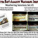 4-JAR WEATHERING SOLUTION SET #3w/How-To-Booklet-Doctor Ben's METAL/PLASTIC/WOOD