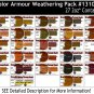 27-COLOR ARMOR/MILITARY/AUTO Weathering Pigment Set Doctor Ben's PLASTIC.METAL