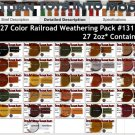 27-COLOR RAILROAD/LOCO/MODEL Doctor Ben's Weathering Pigment Set & How-To Booklet