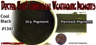 Cool Black Doctor Ben's Weathering Pigment 2oz  READY-TO USE HO/Nn3