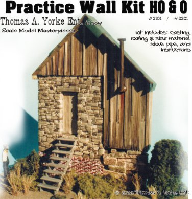 Practice Wall Kit w/Detail AND How-To-Booklet Scale Model Masterpieces/Yorke HO/HOn3/HOn30
