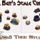 OLD TREE STUMPS--MEDIUM #1 (Labstone-12pcs) Scale Model Masterpieces 1/48-1/64