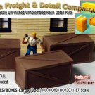 PLYWOOD/WOODEN CRATES-XLarge (3pcs) SCALE MODEL MASTERPIECES NEW HOn3HO/n30-1:87