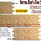 "INTERLOCKING STONE FOUNDATION/RETAIN WALL ""A & B"" Scale Model Masterpieces/Yorke"