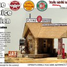 STONE SERVICE STATION (Flying A, Shell, or Sinclair) KIT Scale Model Masterpieces/YORKE 1:87/HO/HOn3