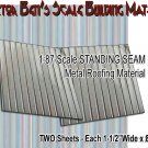STANDING SEAM SIDING/ROOFING METAL (5pcs) Doctor Ben's Scale Consortium HO