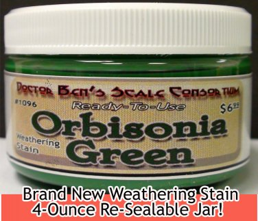 ORBISONIA Depot GREEN WEATHERING STAIN-4oz Doctor Ben's FLOQUIL REPLACEMENT WOOD