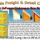 WOOD CRATES/BOXES LONG (8pcs) Scale Model Masterpieces HO/HOn3/HOn30