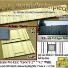 Tilt-Up Walls (C)-Single Large Elevated Door-Center (2pcs) - 20'x40' SMM-N-Scale