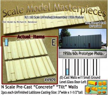 Tilt-Up Walls (E)-1 Small Ground Level Glass Door-Left  (2pcs) Scale Model -N/N