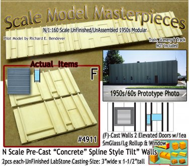 Tilt-Up Walls (F)-2 Elevated Doors-1eaSm/Lg & Window (2pcs) - 20'x40' SMM-N/Nn3