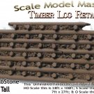 LOG TIMBER RETAINING WALL Scale Model Masterpieces S/Sn42/O/On3/On30 (LabStone)