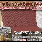 CORRUGATED SIDING/ROOFING METAL (2pcs) Doctor Ben's S/Sn30/Sn3 1:64-SCALE