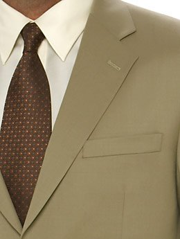 3 Button Tan Suit, 40R ONLY