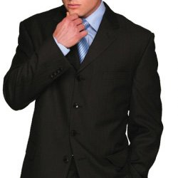 3 Button Navy Suit, Executive Pinstripe, 38R ONLY