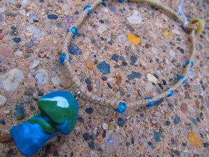 Swirl Shroom Macramé Necklace