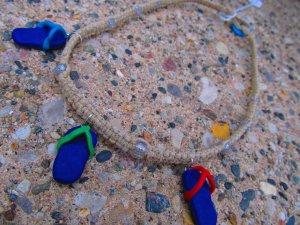 Flip-flop Macramé Hemp Necklace