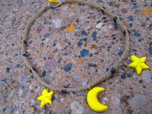 Stars and Moon Hemp Necklace