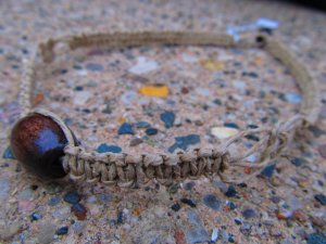 Dark Wood Hemp Necklace