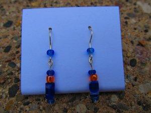 Blue & Orange Earrings