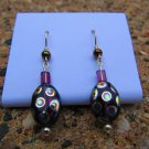 Purple Peacock Earrings