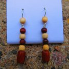 Wooden Beaded Earrings