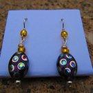Orange Peacock Earrings