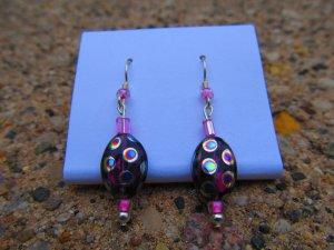 Pink Peacock Earrings