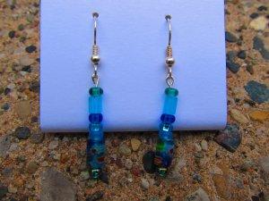 Blue & Green Earrings