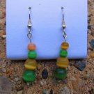 Green & Tan Earrings
