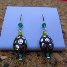 Blue & Green Peacock Earrings