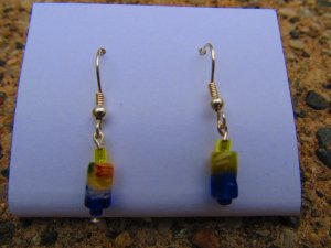 Yellow & Blue Earrings