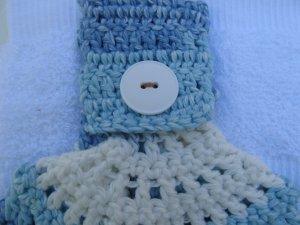 White & Blue Hanging Towel