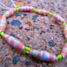 Green & Orange Paper Bead Bracelet
