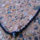 Black Beaded Macramé Bracelet