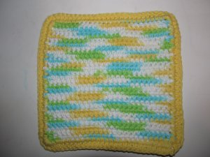 Variegated Yellow & Green Hot Pad