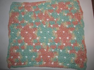 XL Green & Peach Hot Pad