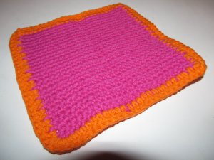Pink & Orange Hot Pad