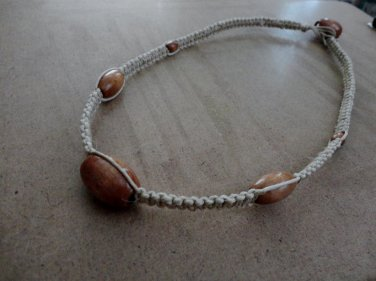 Natural Wood Hemp Macrame Necklace