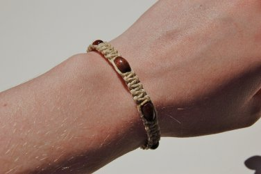 Dark Wood Hemp Macrame Bracelet 179-180