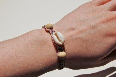 Cowrie Shell Purple Macrame Bracelet 235-236