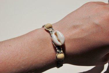 Cowrie Shell Blue Macrame Bracelet 231-232