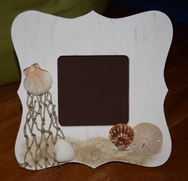 Beach Seashell Picture Frame