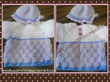 Basketweave Dress & Hat
