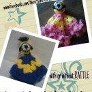 """Despicable Me"" Inspired Cuddle Blankie w/ Rattle"