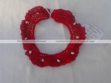 Ruffles and Beads Pet Collar